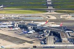 Антенна авиапорта в Франкфурте Стоковая Фотография RF