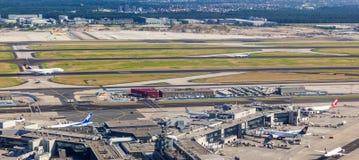 Антенна авиапорта Франкфурта Стоковое Изображение RF