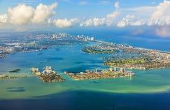 Антенна береговой линии Майами Стоковые Изображения RF