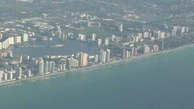 Антенна береговой линии Флориды акции видеоматериалы