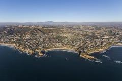 Антенна бухты мидии Калифорнии пляжа Laguna Стоковая Фотография
