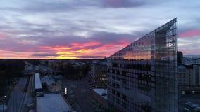 Антенна восхода солнца Vaasa сток-видео