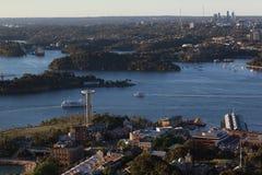 Антенна гавани Сиднея Стоковые Изображения RF