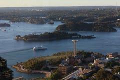 Антенна гавани Сиднея Стоковое Изображение