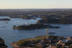 Антенна гавани Сиднея Стоковые Изображения