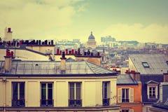 Антенна горизонта Парижа от Montmartre Стоковое фото RF