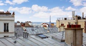 Антенна горизонта Парижа от Montmartre Стоковая Фотография RF