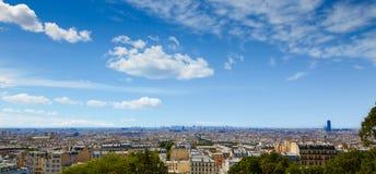 Антенна горизонта Парижа от Montmartre Стоковое Изображение RF