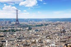 Антенна горизонта Парижа от Montmartre Стоковые Фото