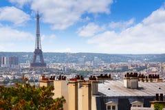 Антенна горизонта Парижа от Montmartre Стоковые Фотографии RF