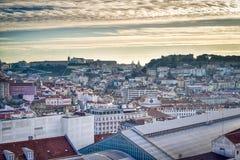 Антенна города Лиссабона, Португалия стоковые изображения rf