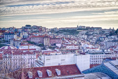 Антенна города Лиссабона, Португалия стоковая фотография rf