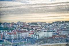 Антенна города Лиссабона стоковые фото
