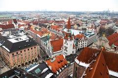 Антенна города Мюнхена, Германии Стоковая Фотография RF
