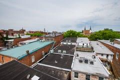 Антенна исторического Federick, Мэриленда около заводи Promena Кэрролла Стоковые Изображения RF