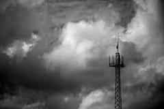 Антенна и небо Стоковые Фотографии RF