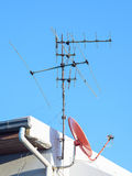 Антенна и спутник Стоковые Фото