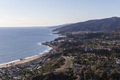 Антенна Лос-Анджелеса Калифорнии Pacific Palisades Стоковое Изображение RF