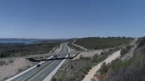 Антенна моста шоссе видеоматериал