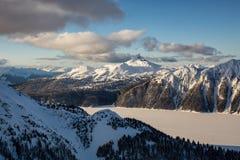 Антенна озера Garibaldi стоковая фотография