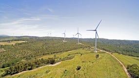 Антенна от ветрянок в сельской местности Стоковая Фотография RF