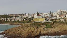 Антенна от деревни Luz в Португалии сток-видео