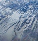 Антенна перевала Snowy стоковые фотографии rf