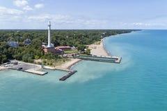 Антенна пляжа дороги башни Стоковое Изображение RF