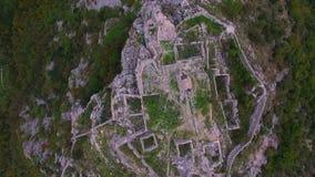 Антенна: Полет над средневековой крепостью акции видеоматериалы