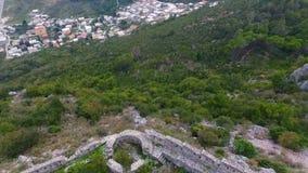 Антенна: Полет над средневековой крепостью видеоматериал