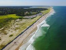 Антенна популярного пляжа трески накидки Стоковое Изображение RF
