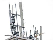 Антенна приема радио установленная на высокую крышу Абстрактное Isola Стоковые Фотографии RF