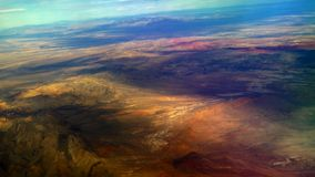 Антенна пустыни, каньон 4K Глена сток-видео