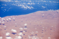 Антенна пустыни Сахары Стоковая Фотография