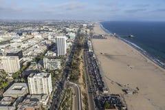 Антенна пляжа Санта-Моника Стоковое Изображение