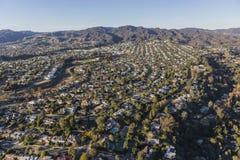 Антенна района Pacific Palisades в Лос-Анджелесе Californ Стоковое Изображение RF