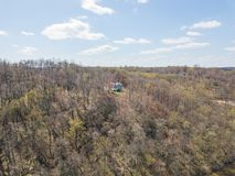 Антенна Рекы Susquehanna и окружающей територии в перепаде, Penns стоковое фото