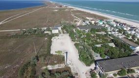 АНТЕННА: Роскошный островной курорт на экзотическом пляже с белым песком сток-видео