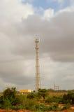 Антенна связи вдоль железнодорожного пути Стоковые Фотографии RF