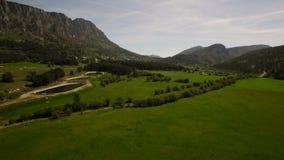 Антенна сельской местности Франции видеоматериал