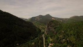 Антенна сельской местности Франции акции видеоматериалы