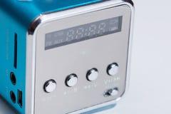 Антенна сини коробки игрока радио Mp3 Стоковое фото RF