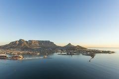 Антенна Южная Африка горы таблицы Кейптауна Стоковое фото RF