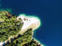 Антенна Bohinj озера стоковое изображение