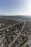 Антенна Glendale Калифорнии скоростного шоссе Вентуры Стоковое Фото