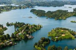Антенна Guatape, озер Колумби стоковые изображения rf