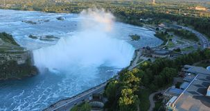 Антенна Horseshoe падений, Ниагарский Водопад, Канада 4K акции видеоматериалы