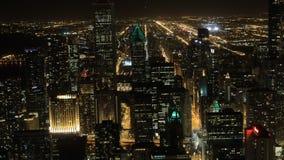 антенна 4K UltraHD Timelapse центр города Чикаго, Иллинойса видеоматериал