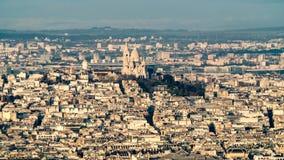 Антенна Sacre Coeur в Montmartre в Париже Стоковые Фотографии RF