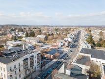 Антенны исторического Littlestown, Пенсильвании соседского Gettys Стоковые Изображения